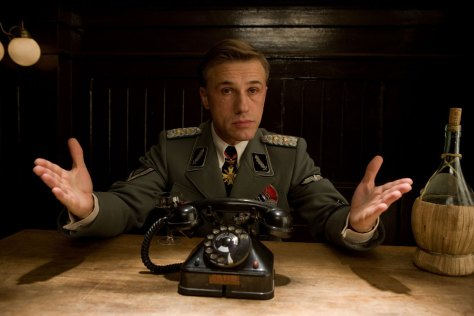 quentin-tarantino-christoph-waltz-inglourious-basterds-war-wwII-film-ranked-filmography
