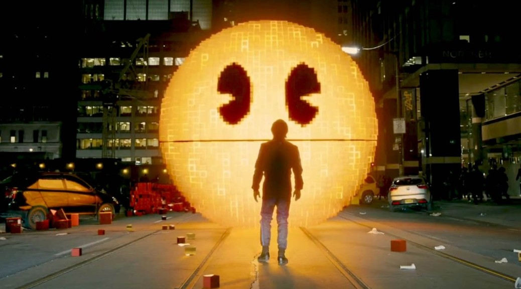 pixels-pac-man-action-comedy-film-adam-sandler-peter-dinklage-michelle-monaghan-kevin-james-josh-gad-movie-review-2015